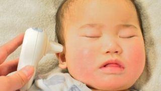 ペルパンギーナが発症した赤ちゃんのイメージ写真
