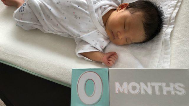 産まれてまもない赤ちゃんの写真